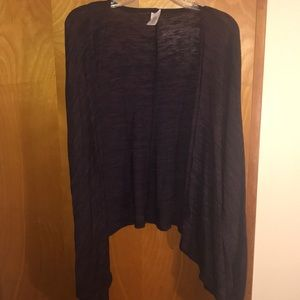 Black and purple cardigan/poncho